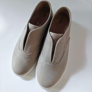 Frye Grey Mindy Slip-on Leather Sneaker